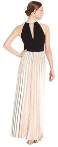 Xscape Long Sleeveless Pleated Dress