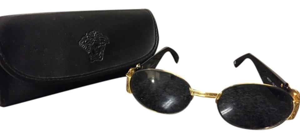 9c2ca34a917d Versace Black and Gold Vintage with Case. Sunglasses - Tradesy