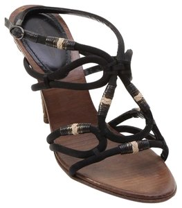 Bottega Veneta Black, Brown Sandals