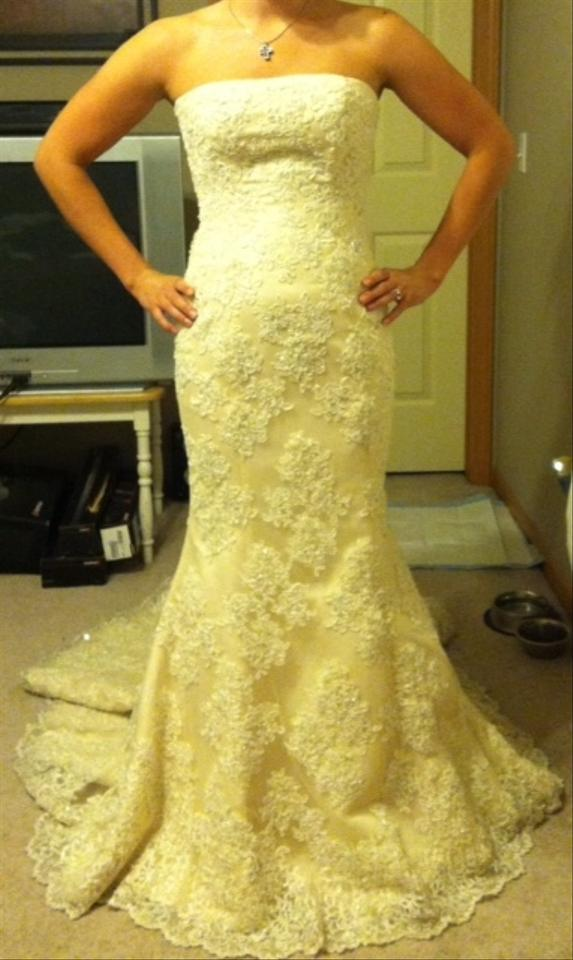 Maggie Sottero Ivory Lace Phillipa Wedding Dress Size 6 S