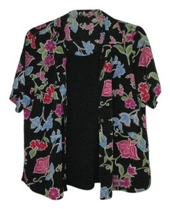 Black two piece with flower design Top Black, flower design