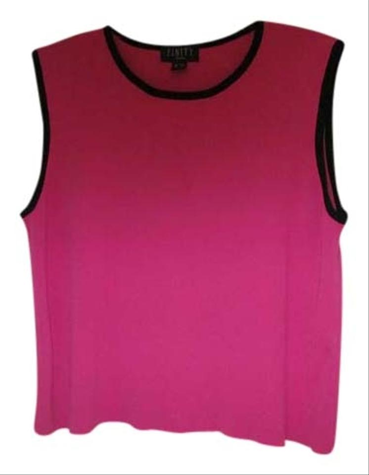 0ea4df1575086 Finity Pink Black On Sleeves Sweater Pretty Tank Top Cami Size 22 ...