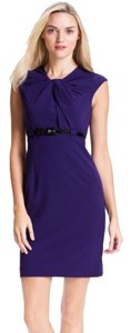 Calvin Klein Sheath Office Work Professional Wear To Work Work Belted Sheath Careers Dress