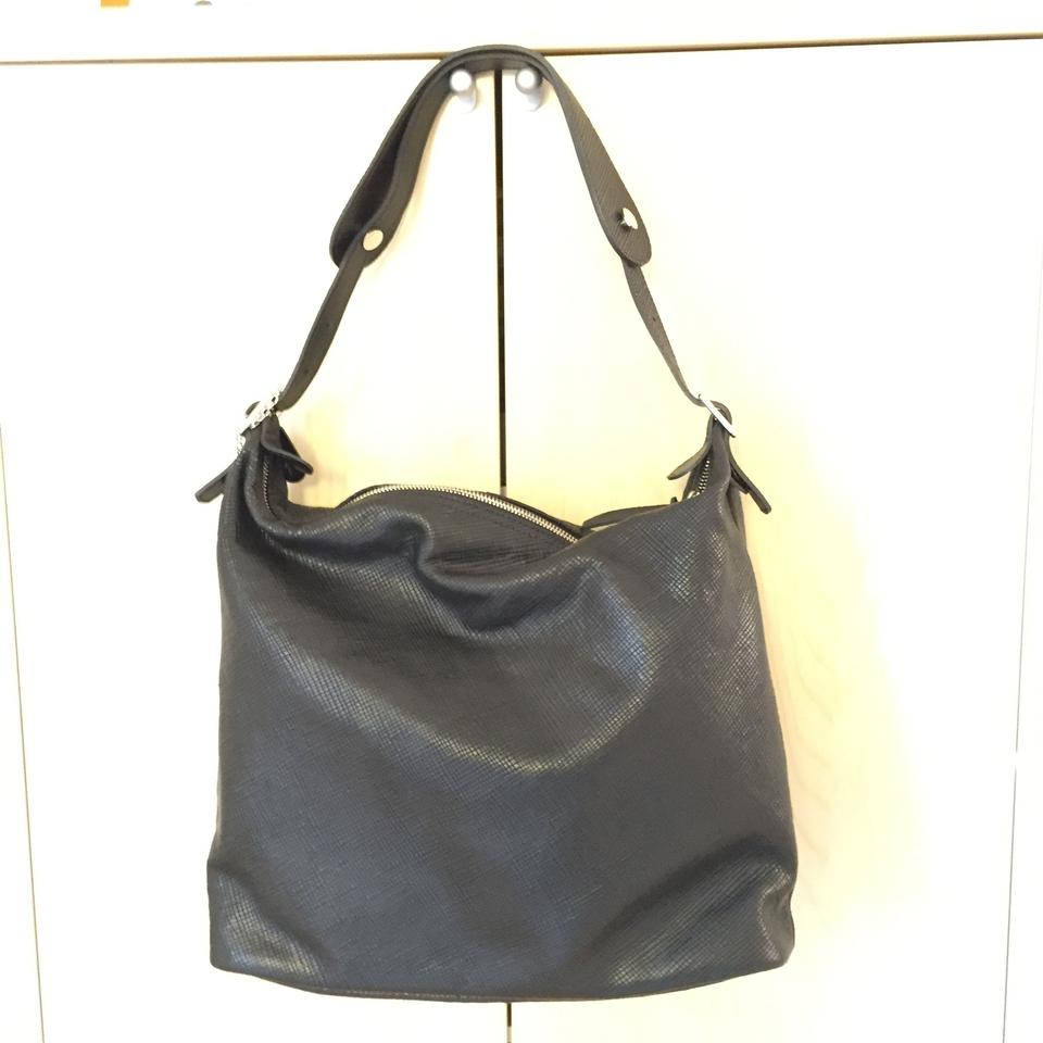 dfe37efa96cb7 Longchamp Quadri Black Leather Hobo Bag - Tradesy