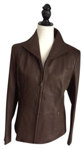 Phistic Brown Leather Jacket