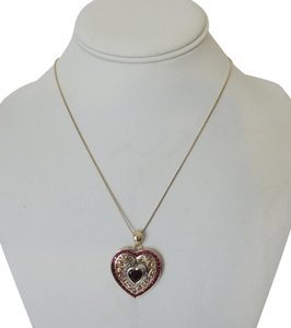 Technibond Technibond Diamond Accent Ruby Heart Pendant with Chain 20