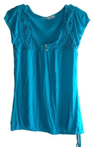 Almost Famous Clothing Top Sky Blue
