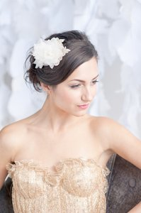 Tessa Kim Tessa Kim Double Flower Fascinator Headpiece