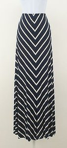 Other Kaur Striped B110 Maxi Skirt Navy White