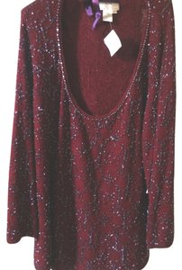 Saks Fifth Avenue Top red burgundy