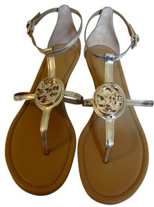 a9d02185a Coach Vipor Open Toe Slingback Leather Wedge Patent Leather gold Sandals