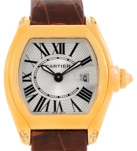 Cartier Cartier Roadster Ladies 18K Yellow Gold Brown Strap Watch W62018Y5