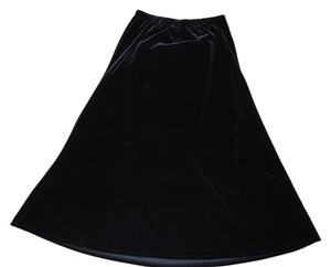 Chico's Vintage Skirt Black Velvet