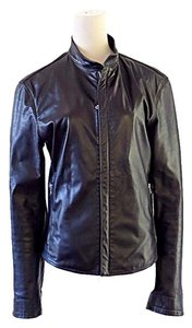 Ocean Drive Clothing black Leather Jacket