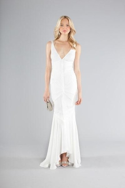 Item - Antique White Silk Dylan Casual Wedding Dress Size 4 (S)