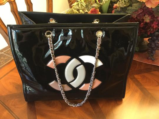Chanel Lipstick Patent Leather Like New Limited Edition Tote in Black
