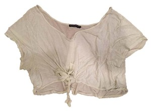 Brandy Melville Top Sheer White