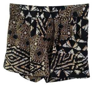 BCBG Max Azria Tribal Print Silk Mini/Short Shorts Tribal Multi