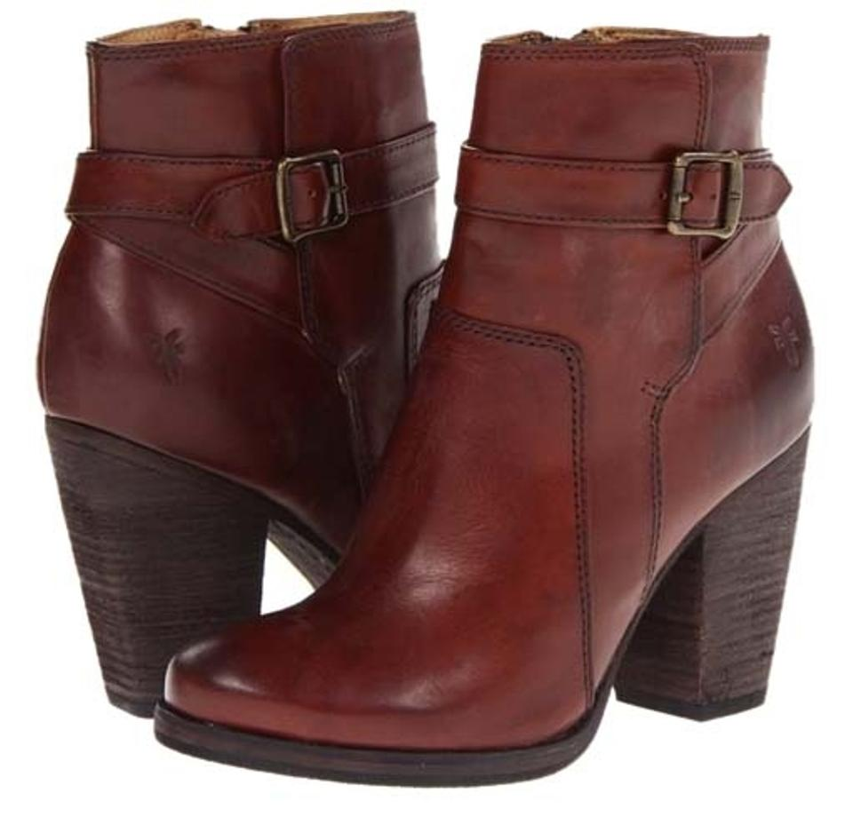 Frye Brown Redwood Leather Riding Patty Riding Leather Boots/Booties 02e04f