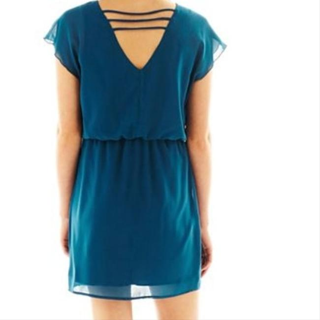 City Triangles short dress Teal on Tradesy