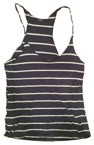 Brandy Melville Top Navy and Grey Striped
