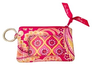 Vera Bradley Pink Yellow Wristlet in pink, yellow, floral