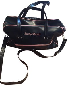 Lucky Brand Bowling Weekender Black Travel Bag