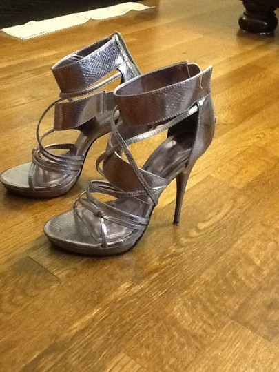 Charlotte Russe Silver Pumps
