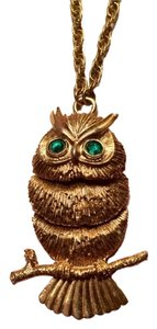 Napier Vintage Napier '60's flexible Owl pendant necklace.