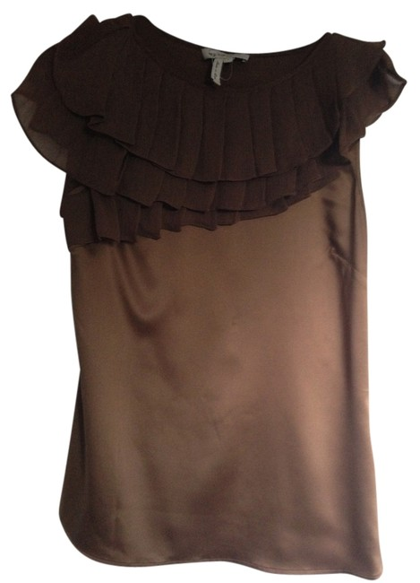Preload https://item3.tradesy.com/images/bcbgmaxazria-brown-bcbgeneration-night-out-top-size-4-s-941092-0-0.jpg?width=400&height=650