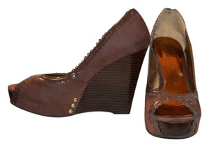 Carlos by Carlos Santana Studded Brown Platforms