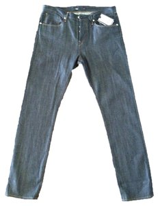 3 X 1 New York Selvedge Cotton Boyfriend Cut Jeans-Dark Rinse