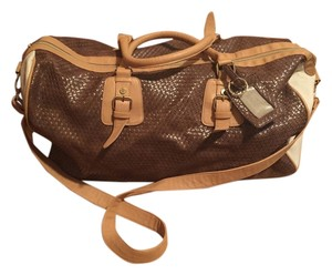 Steve Madden Brown, cream, tan Travel Bag
