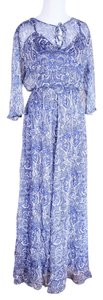 BLUE PAISLEY Maxi Dress by Love Sam Viscose Maxi Knit Paisley
