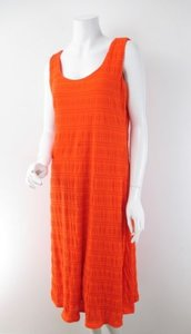 Madison Leigh short dress Orange Knit Stretch Knee Length on Tradesy