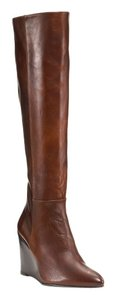 Stuart Weitzman Vim Saddle Old West Leather Brown Boots
