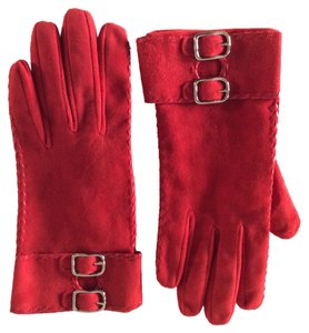 Coach Red Suede Glove Size 7