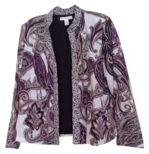 Chico's Beige purple Blazer