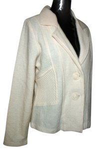Harvé Benard Wool Fitted Lightweight Winter white ivory Blazer