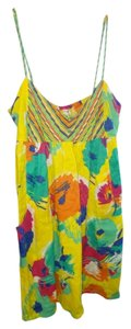 O'Neill short dress yellow/floral on Tradesy