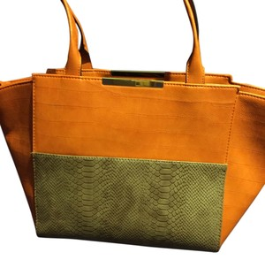 Neiman Marcus Tote in Orange and taupe