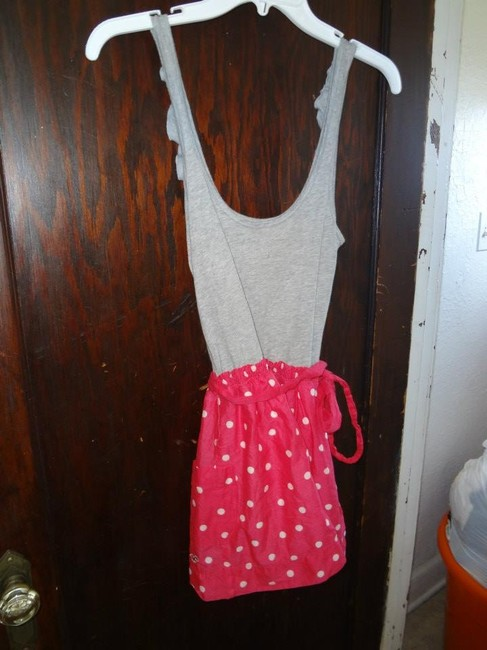 Hollister short dress grey and pink on Tradesy
