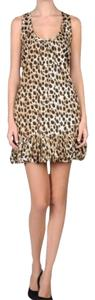 Just Cavalli short dress Brown Leopard Smock on Tradesy