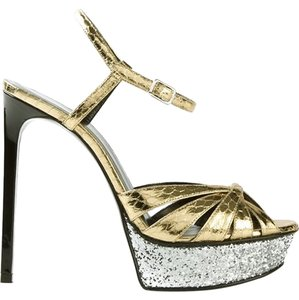 Saint Laurent Gold - Silver Sandals