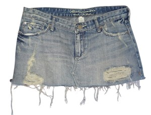 Abercrombie & Fitch Mini Skirt jean