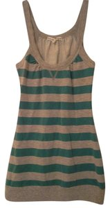 Almost Famous Clothing Top Teal/ Grey Stripes
