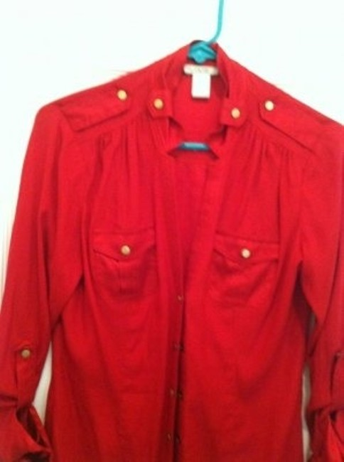 Cache Button Down Shirt Red