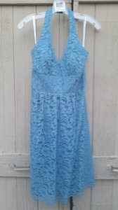 David's Bridal Lake (blue) Short Halter Lace Dress Style F15623 Dress