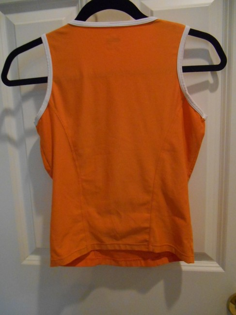 Nike Run Yoga Summer Sport Athletic Gym 0 2 Xs S Extra Small Small Swoosh Logo Shirt Pullover Fit Dry Breathable Top Orange