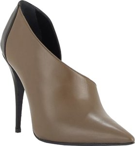 Narciso Rodriguez Leather Ankle Olive & Black Boots